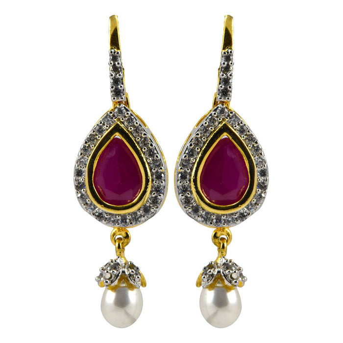 Worthy Dangle AD Earrings with Pearl Drop