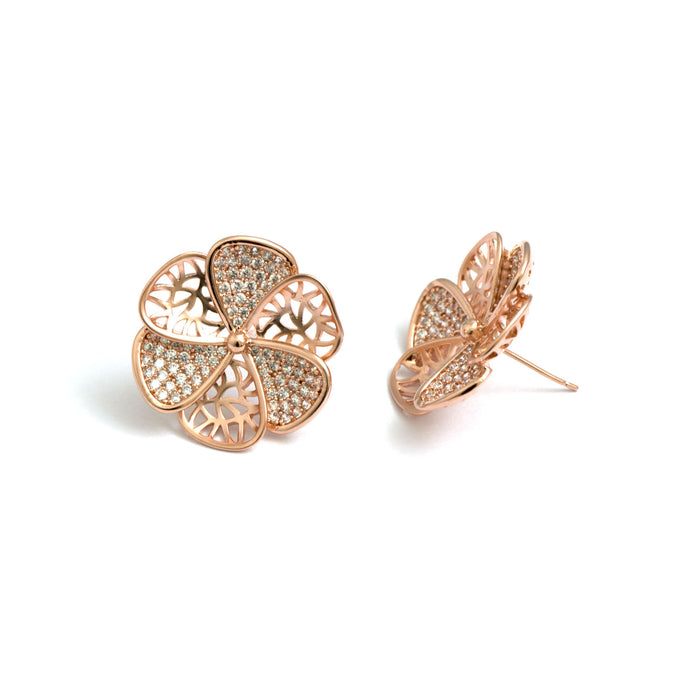 Huge Flower Stud Earrings