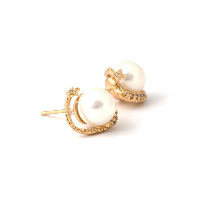 Pearly Nest Studs Earrings