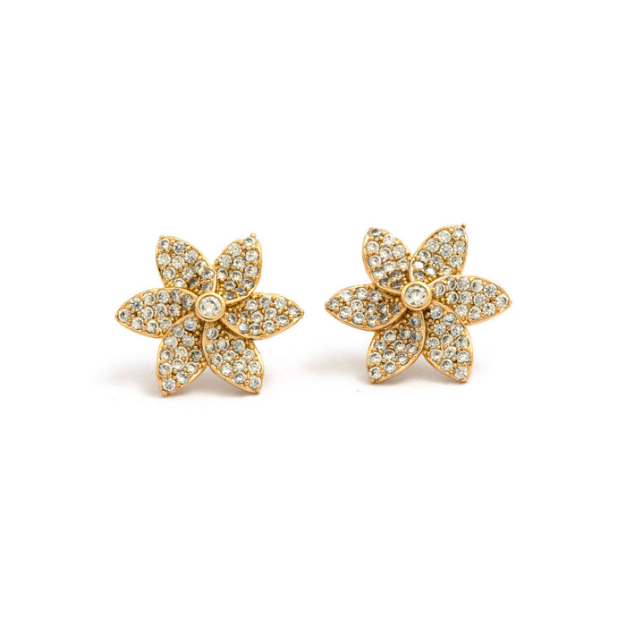 Sparkling Flower Studs Earrings