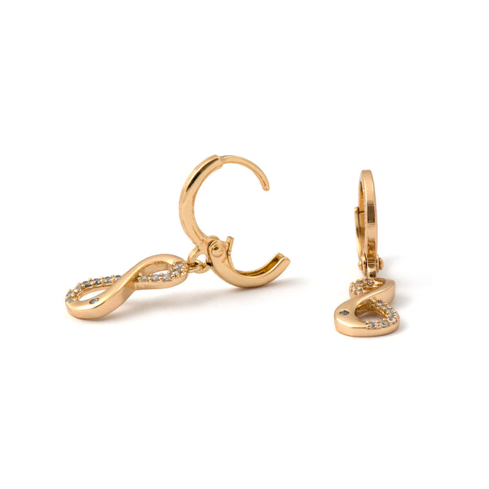 Infinity Drop Hoops Earrings