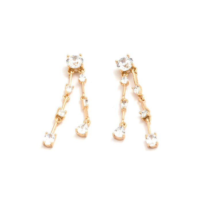 Two Chains Dangler Earrings