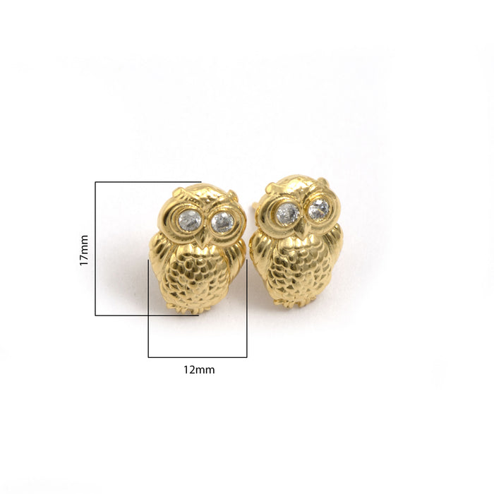 Wise Owl Stud Earring (Sterling Silver 92.5)