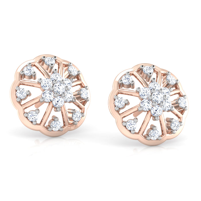 Exquisite Floral Sterling Silver Earrings