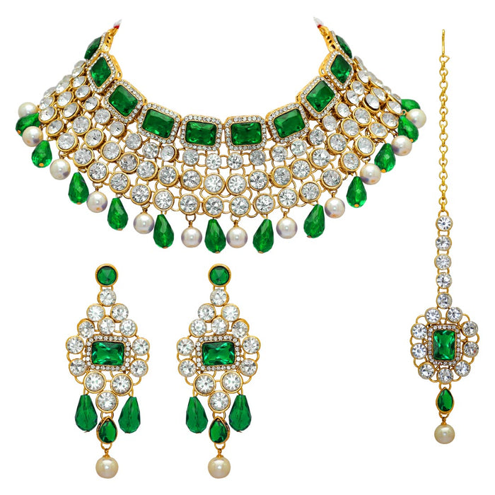 Tempting Vigor Pearl Kundan Necklace