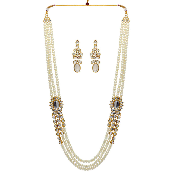 Spotless Pearl and Kundan Necklace