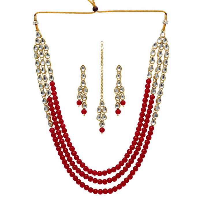 Innocent Pearl and Kundan Necklace