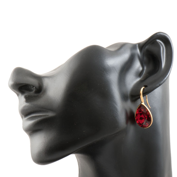 Ruby Tear Drop Earring