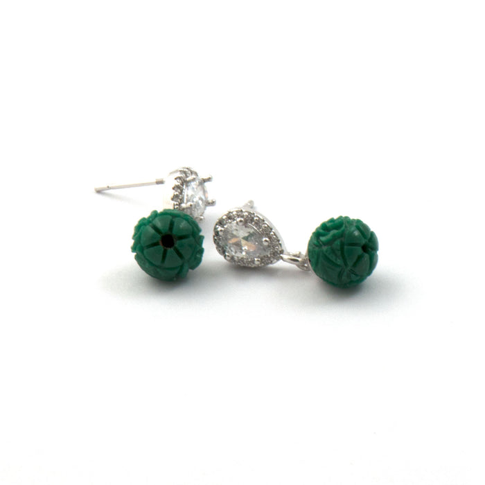 Chic Indie Drop Earring with AD