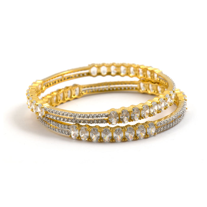 Traditional Gold Plated Slim Bangles