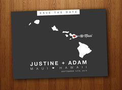 Hawaii Save the Date Postcard