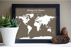 Long Distance Love Map Gift