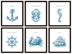 Nautical Bathroom or Nursery Art