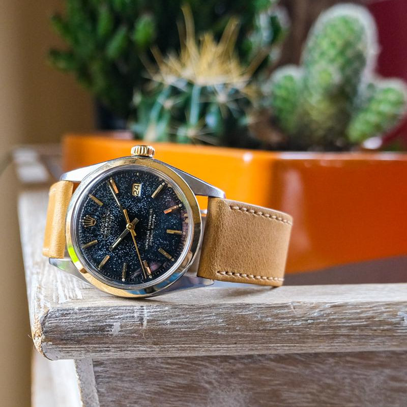 Calf leather - Honey Bee Yellow Perpetual Watch Lover