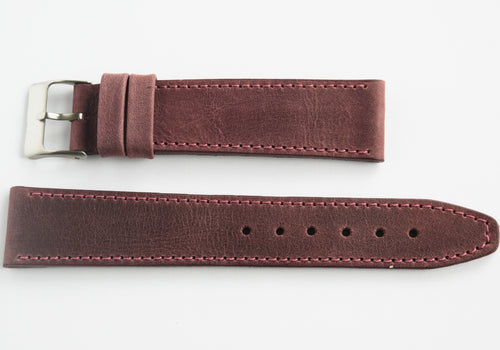 Calf leather - stitched - Wine Red Perpetual Watch Lover