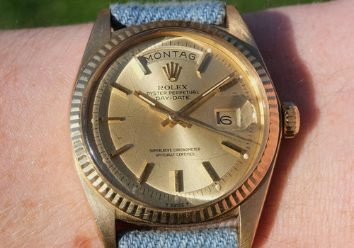 Jeans, like a jeans jacket -Nos Strap-By Benneton for Bulova Perpetual Watch Lover