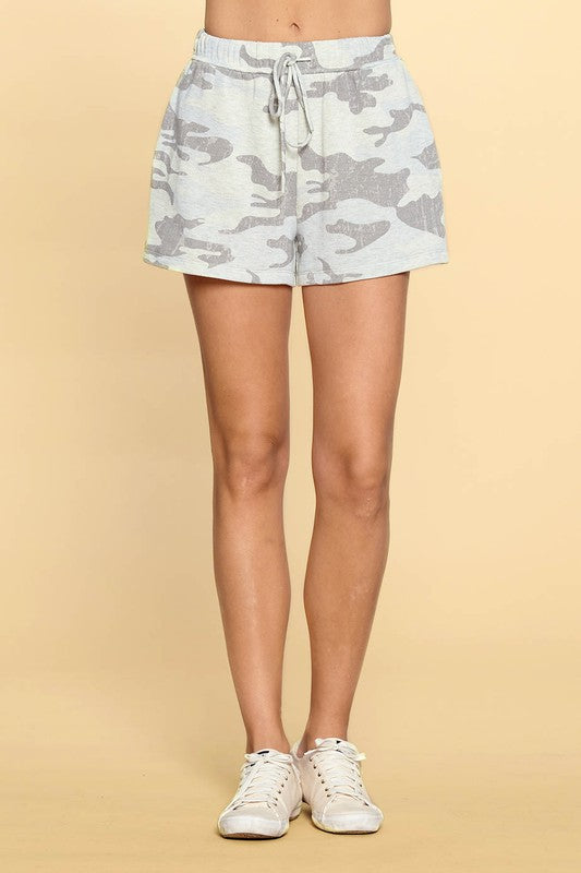 Camouflage Printed Hacci Shorts - All Sizes