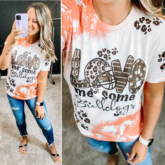 Love Me Some Bulldogs - Football Graphic Tee
