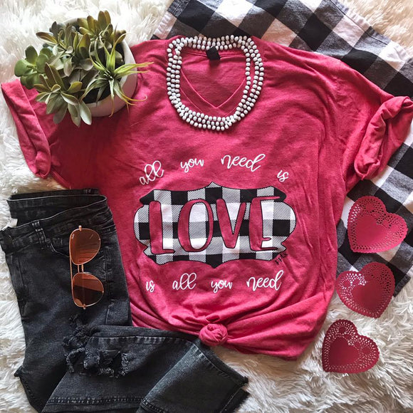 all you need is LOVE is all you need - graphic tee