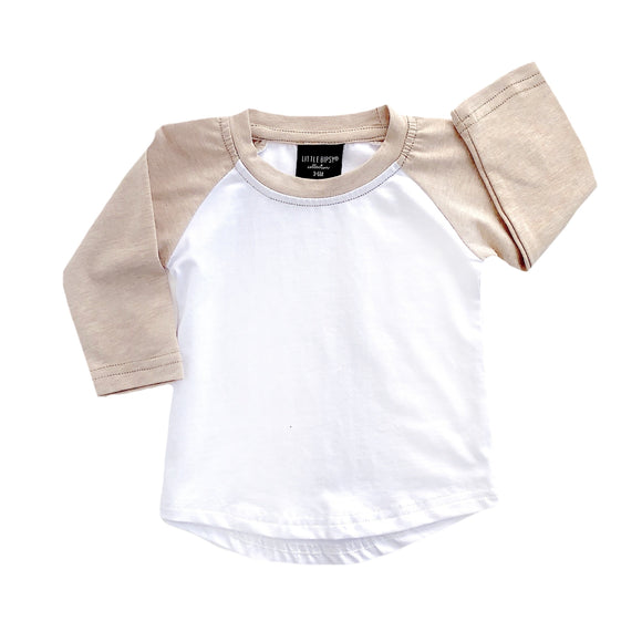 Little Bipsy BaseBall Tee - Brushed Blush