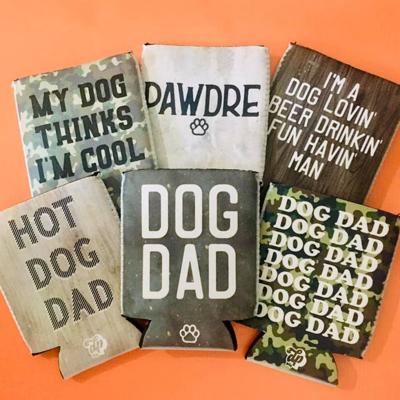 DOG DAD COOZIES - MULTIPLE OPTIONS