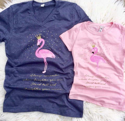 Flamingo Tee-- Mommy & ME