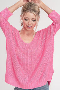Soft Luxe Sweater - 3/4 Sleeve - Multiple Colors