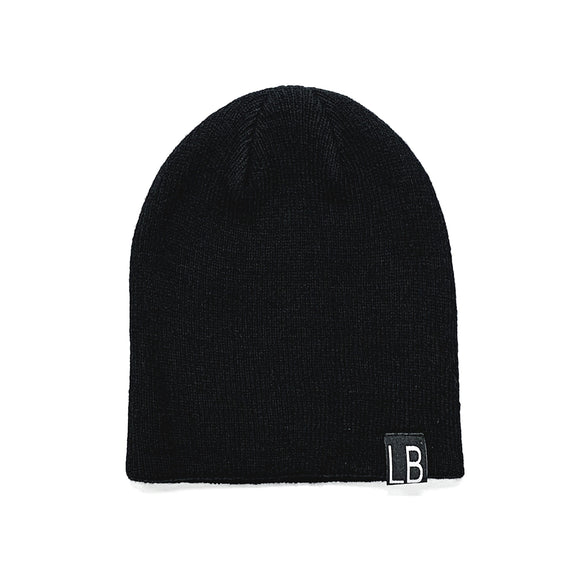 Little Bipsy Knit Beanie - Black // Mommy + Me