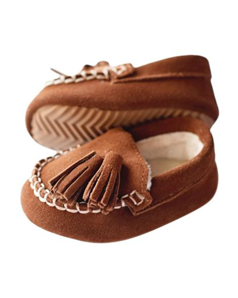 KIDS -- Genuine Suede Loafers - Brown