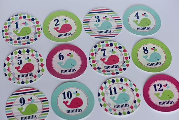 Monthly Milestone Stickers - Multiple Options