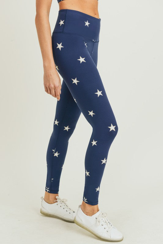 Wonder Star Print Highwaist Leggings