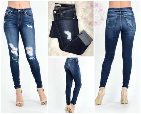 Savannah Dark Wash Kancan Skinny Jeans
