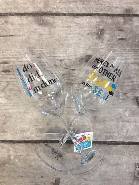 Break Up Laughing Wine Glasses
