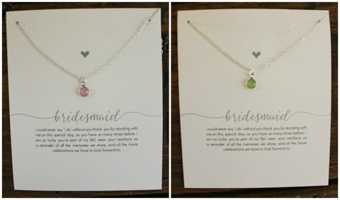 Bridesmaid Necklace- 2 Colors