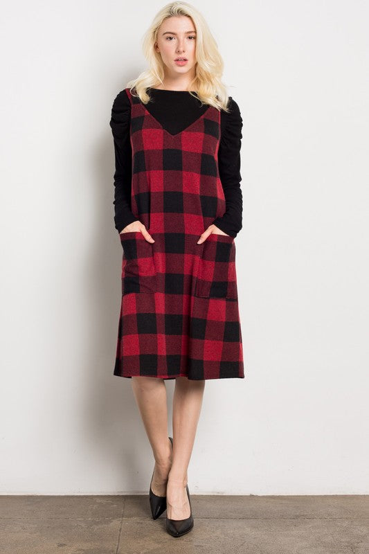 Buffalo Plaid  Tank Dress