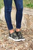 Camo Hidden Wedge Sneaker