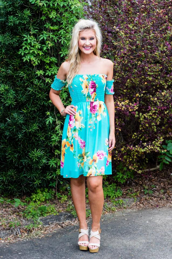 CATALINA DRESS - TURQUOISE ROMANCE