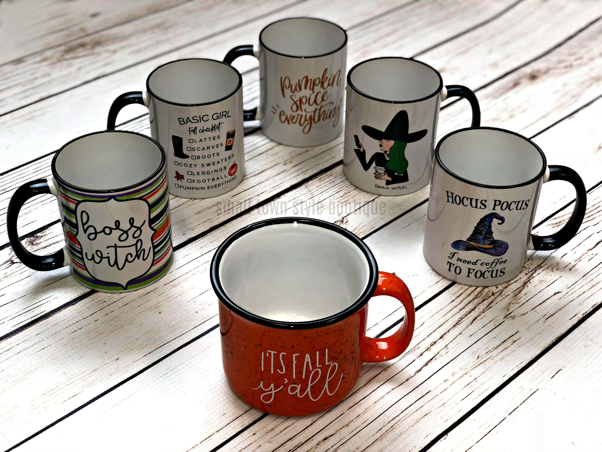 fall/halloween mug collection – small town style boutique