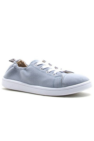 Grey Sling Back Sneakers