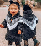 Snake Skin Colorblock Sherpa- Kids