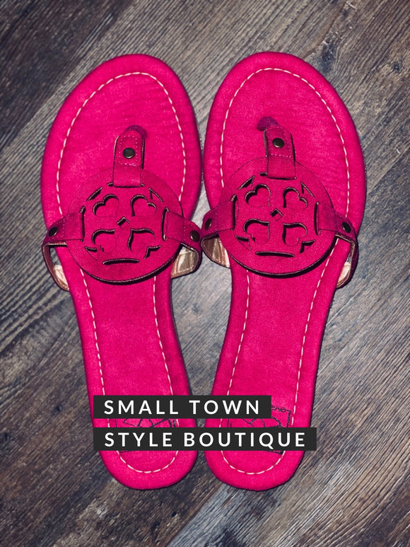 MOLLY SANDALS - HOT PINK