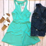 Back to Yesterday Dress - Mint