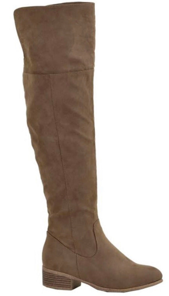 Over the Knee Taupe Boot