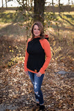 STS EXCLUSIVE Black + Orange DoubleHood™ Sweatshirt
