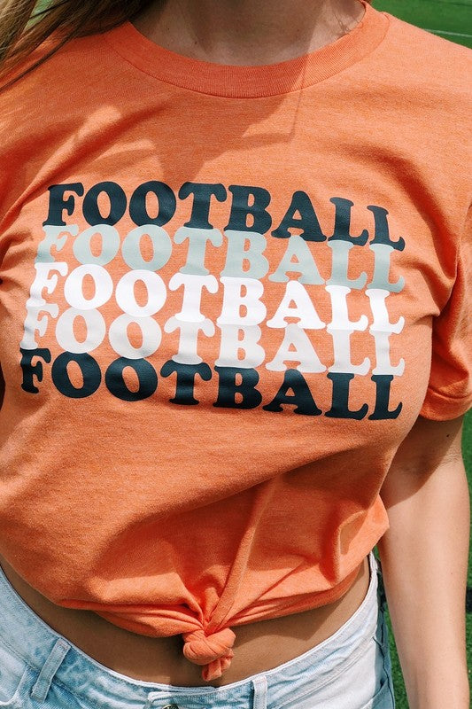 FOOTBALL X5 - GRAPHIC TEE - MULTIPLE COLORS