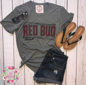 RED BUD Softball Tee