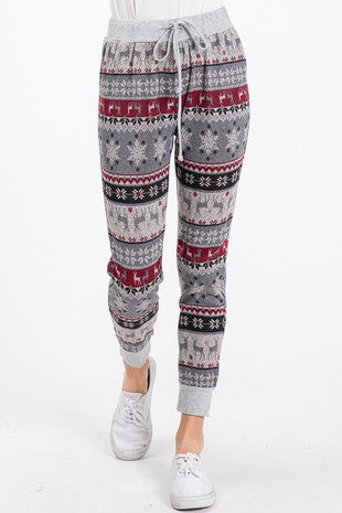 Holiday Reindeer Joggers - Multiple Colors