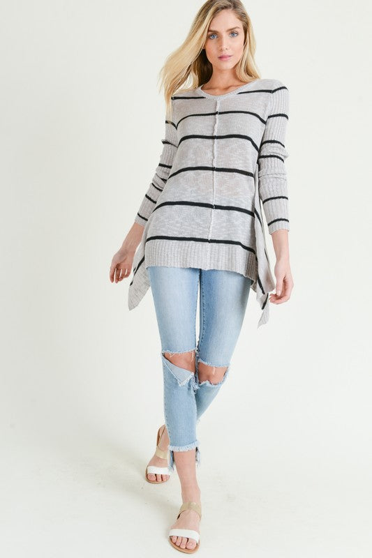 Shark Bite Hem Sweater - Multiple Options