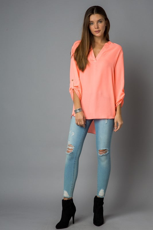 Curvy Sheer Neon Top - 2 Colors Available