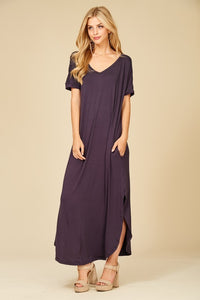 Side Slit Maxi Dress - Java